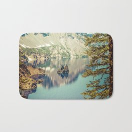 Crater Lake Oregon Phantom Ship Island Bath Mat