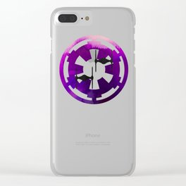 Star Wars Imperial Tie Fighters in Purple Clear iPhone Case