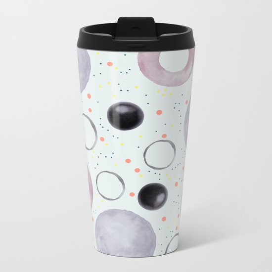 Watercolor bubbles Metal Travel Mug
