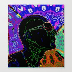 profile face abstract Canvas Print
