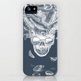 About rose and skull iPhone Case