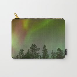 Ethereal multicoloured lights over a forest Carry-All Pouch