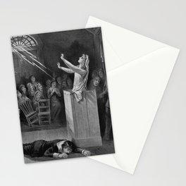 Salem Witch Illustration from 1892 Stationery Cards