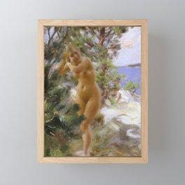After the Bath - Anders Zorn Framed Mini Art Print