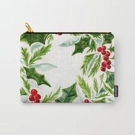 Holly, berries, and evergreens Carry-All Pouch