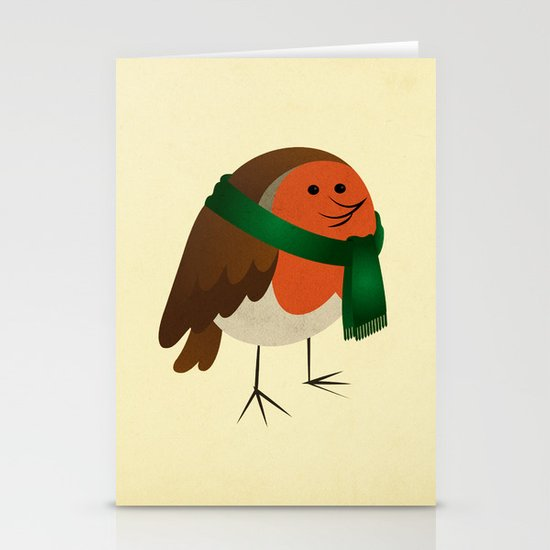 The Robin's new scarf Stationery Cards