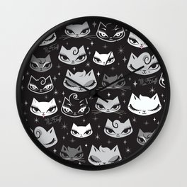 Rockabilly Cats with Pompadours Wall Clock