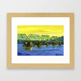 New Hope-Lambertville Bridge Framed Art Print