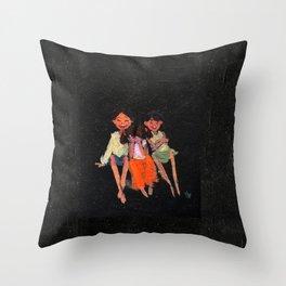 Siblings! Throw Pillow