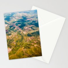 Land from the sky Stationery Cards