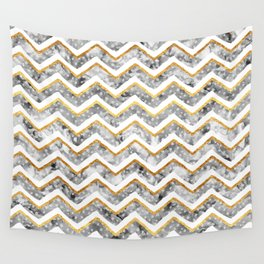 NEW Gold Chevron Wall Tapestry