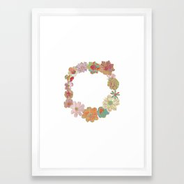 Halftone Flower Ring Framed Art Print