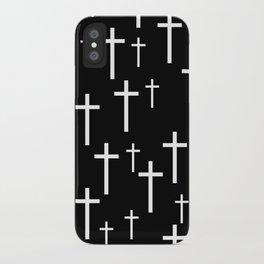 Crosses (Black) iPhone Case