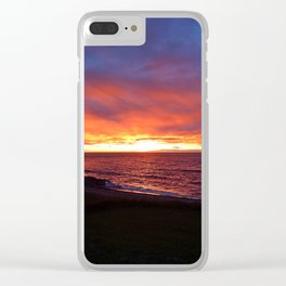 Beach Sunset on the Sea Clear iPhone Case