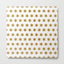 Gold Glitter Stars Metal Print