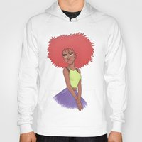 afro Hoodies featuring Afro girl by Joan Pons