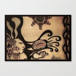Prehispanic coffee Canvas Print
