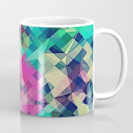 Fruity Rose - Fancy Colorful Abstraction Pattern Design (green pink blue) Coffee Mug