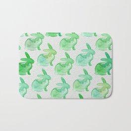 Watercolor Bunnies 1H by Kathy Morton Stanion Bath Mat