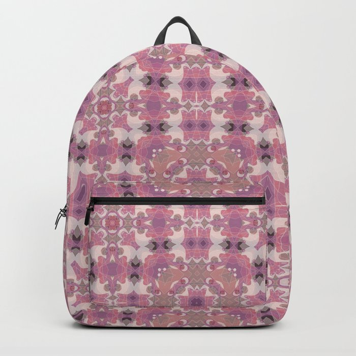 Abstract pattern in pink beige Browns . Ornament . Backpack