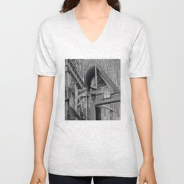 English Gothic (Halftone) Unisex V-Neck