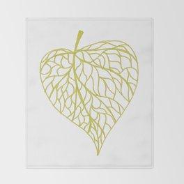 The Linden leaf Throw Blanket