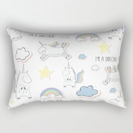 I am a Unicorn Rectangular Pillow