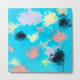 Abstract Paint splatter design Metal Print