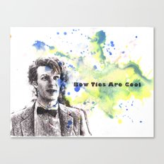 Doctor Who 11th Doctor Matt Smith Bow Ties Are Cool Canvas Print