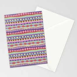 Stripey-Coolio Colors Stationery Cards