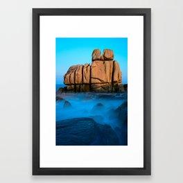 Seascape #1.  Cléder, France Framed Art Print