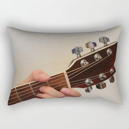 Guitar Player Rectangular Pillow
