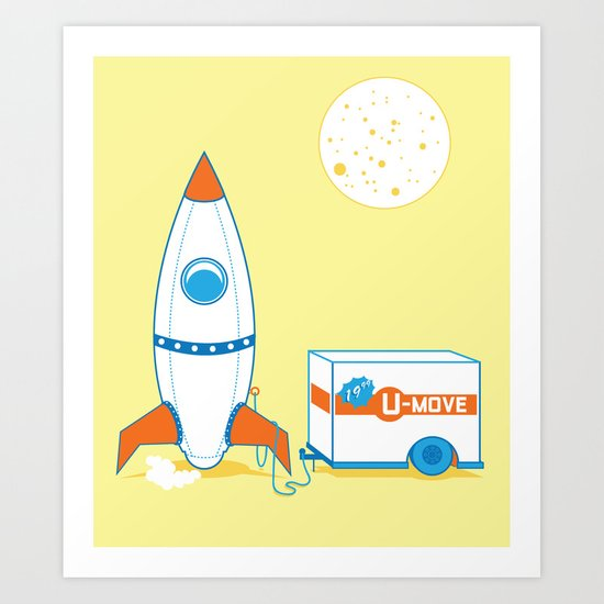 Movin' on up... way up. Art Print
