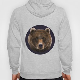 Brown Bear illustration by artist Robert Clear Hoody
