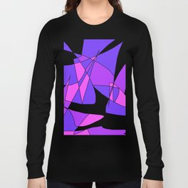 Windy Peaks - Abstract Purples on White Long Sleeve T-shirt