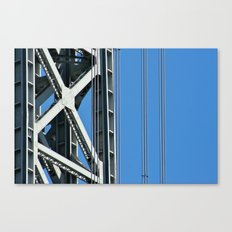 George Washington Bridge Detail Canvas Print