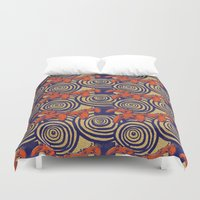 gamer Duvet Covers featuring Gamer Wax by Cori Redford