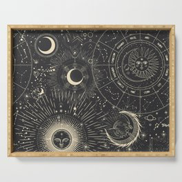 Space patterns Serving Tray