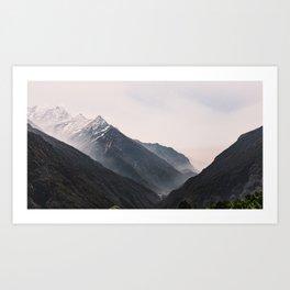 Nepal Series | Three Peaks, Himalayas Art Print