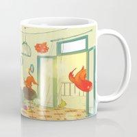 underwater Mugs featuring underwater by lena brunshtein