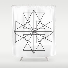 Triangle Love Shower Curtain