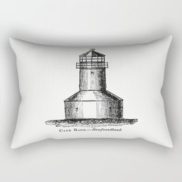 Cape Race Newfoundland from Circular relating to Lighthouses Lightships Buoys and Beacons (1863) Rectangular Pillow