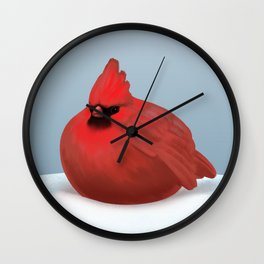 After Christmas cardinal bird Wall Clock