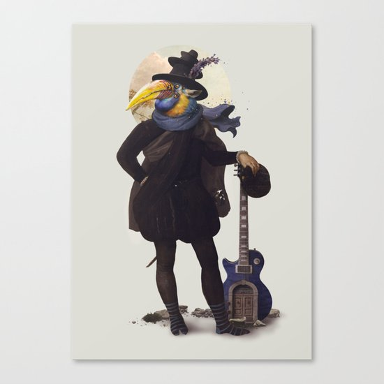 Bird of the street Canvas Print