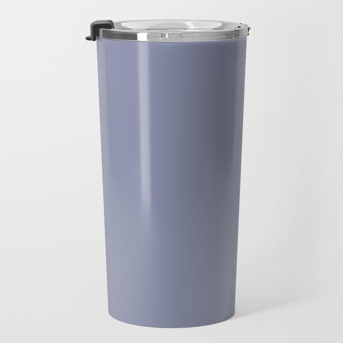 Gray-Blue - solid color Travel Mug