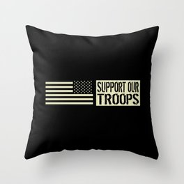 U.S. Military: Support Our Troops Throw Pillow