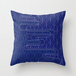 Sashiko Diamonds Throw Pillow