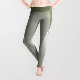 Green Abstract Forest Leggings