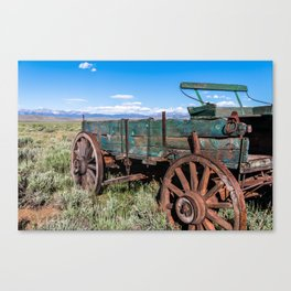 Abandoned Wagon of the West Canvas Print