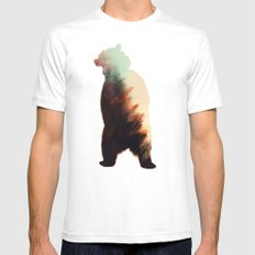 Norwegian Woods: Bear LARGE Mens Fitted Tee White